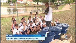 Iacanga: crianças aprendem sobre o meio ambiente em aula ao ar livre