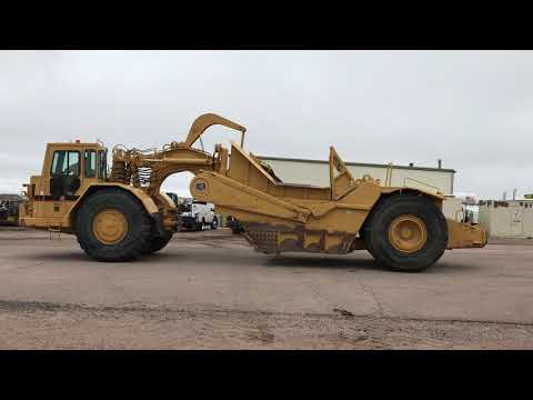 Caterpillar TRACTOARE-SCREPERE CU ROŢI 631EII equipment video oJXcsPYJttA
