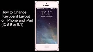 In This Video Show : How to Change Keyboard Layout on iPhone and iPad ( iOS 9 , Ios 9.1 ).If you have any question about this video, Please comment Below.& a...