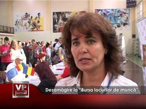 """Dezamăgire la """"Bursa locurilor de muncă"""""""