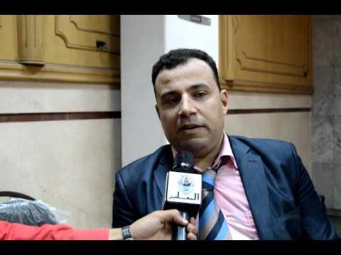 خالد فؤاد يقدم اوراق ترشحه علي مقعد المستوى العام