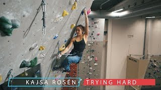 Kajsa Fighting Her Fears - Lead Climbing - 1 Year In The Making by Eric Karlsson Bouldering