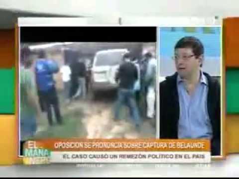 Pronunciamiento tras captura de Martin Belaunde