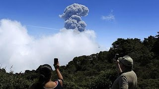 Costa Rica's Turrialba volcano has been spewing ash into the sky after its most powerful eruption in almost two decades.