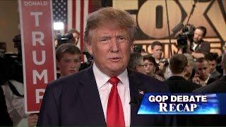 Donald Trump talks to Sean Hannity after Fox Business GOP Debate