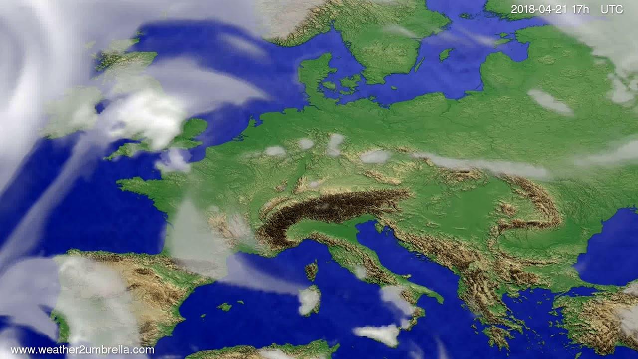 Cloud forecast Europe 2018-04-19
