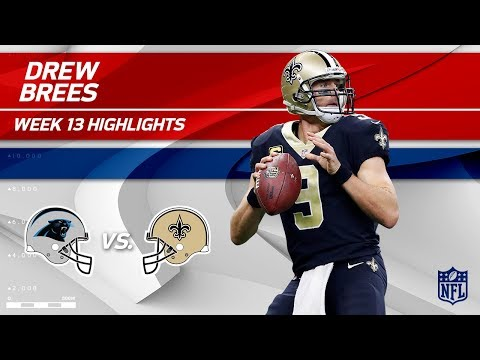 Video: Drew Brees Highlights | Panthers vs. Saints | Wk 13 Player Highlights