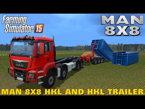 MAN 8x8 HKL and HKL trailer v1.0