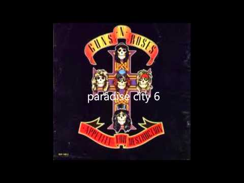 guns n' roses appetite for destruction ( full album )