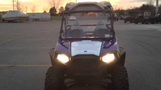 5. 2012 Polaris Ranger RZR 800 EPS Boardwalk Blue LE with Lift Kit and Other Accessories