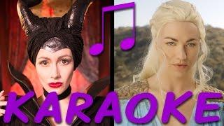 Karaoke/instrumental of Maleficent vs. Daenerys: Princess Rap Battle! Follow along with the lyrics on screen - no vocals, just the beat! Subscribe: http://tiny.cc/WAsubIllinest Villainess t-shirts! http://tiny.cc/illinestIf you make a cover video using this, please link to the original video https://youtu.be/y5k5e9RW8Og. FYI, that won't transfer ownership of the music.** MALEFICENT VS. DAENERYS: #PRINCESSRAPBATTLE CREDITS **Writer/Producer/Director/Maleficent: Whitney Avalon http://whitneyavalon.com http://twitter.com/whitneyavalon  Writer/Producer/Director/Editor: Steve Gossett http://stevegossett.com  http://facebook.com/thestevegossett  http://twitter.com/thestevegossettDaenerys: Yvonne Strahovskihttps://twitter.com/y_strahovski https://instagram.com/therealyvonnestrahovski/Missandei: Bianca DeGroat http://www.biancadegroat.com/Grey Worm: Lorenzo Adams http://youtube.com/nerdballertvDiaval: Nathan Graham Smith http://Instagram.com/grahamcraquahWayne: Gregory Guy Gorden http://www.GregoryGuyGorden.comGarth: Brad Gage https://www.youtube.com/user/bradgagecomedyCinematographer: Peyton SkeltonAssistant Camera: Alex Cason2nd AC/Data Tech: Brandon RubeshComposer/Music Mix/Mastering: Ryan Elder http://www.ryaneldermusic.comAnimators: MC Griffin, Alex LambropoulosMake-up / Hair: Patty Jarvis, Hailee JonesCostume Designer: Sarah JeanneWardrobe Assistant: Sara ParrottProduction Manager: Mary BonneyStaff Writer: Michael Sullivan Key Grip: Kevin NieliwockiSound FX: Fionnegan Justus MurphyVFX: Aaron MolesGaffer: Rose Fadem-JohnstonDaenerys and Diaval Wigs: Laura RichardsAssistant to Mr. Gossett/BTS Camera: T.C. DeWittAssistant to Producers OR Assistant Production Manager: Leia CrawfordProduction Designer: Alexandra RegazzoniAssistant to Ms. Avalon: Clare LoughranCraft Service/Still Photos: Candace Lauren OstlerBTS Camera: Mike ManasewitschPlayback: Alex FrewGrip: Jim Burzelic, Jim SaboMusic Department PA: Walt RibeiroPA: Fae Niyu, Diane MusselmanSpecial Thanks: Varun Lella, L