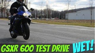 5. 2007 Suzuki GSXR 600 COLD WET Test drive: srkcycles.com
