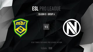 MIBR vs EnVy - ESL Pro League Season 9 NA - map2 - de_train [MintGod]