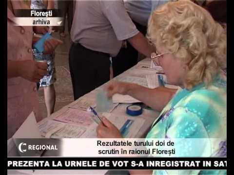 Rezultatele turului doi de scrutin in raionul Floresti