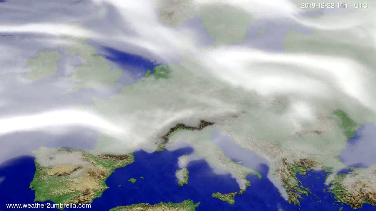 Cloud forecast Europe 2018-12-18