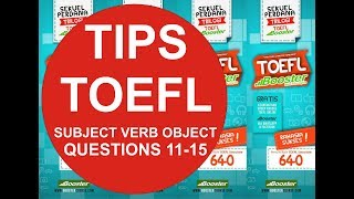 Subject, Verbs, and Objects (Q11-Q15)