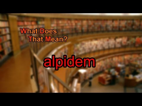 What does alpidem mean?