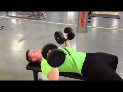 Flat Dumbbell Bench Press  - 28 METHOD