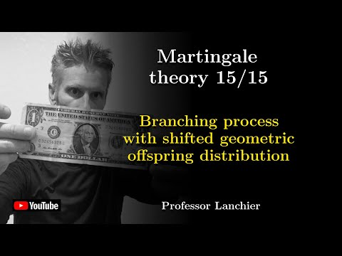 Martingales 15 - Branching process with shifted geometric offspring distribution.