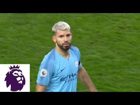 Video: Aguero PK gives him a hat trick, makes it 5-0 for Man City v. Chelsea | Premier League | NBC Sports