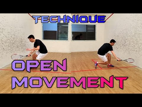 Squash - Open Stance Movement - Technique