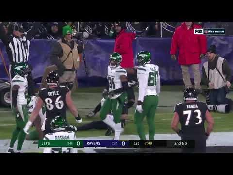 Mark Ingram rushes for a touchdown Jets Vs Ravens