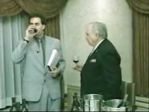 tasting - Borat learns how to drink wine from a mississipi gentleman.