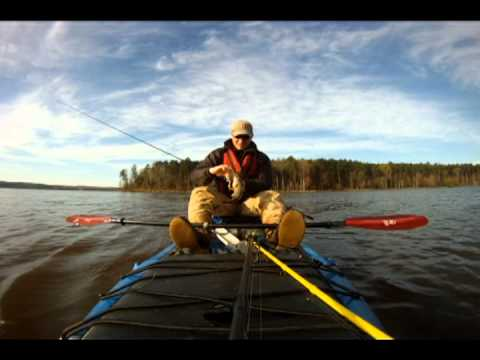 Bass Fishing on Falls Lake NC from the Jackson Coosa Kayak