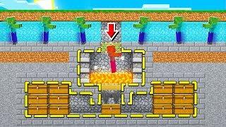 Building a SECRET underground Minecraft MOB Grinder.. for money!