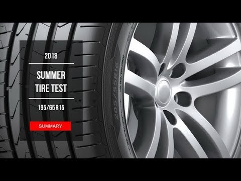 2018 Summer Tire Test Results   195/65 R15