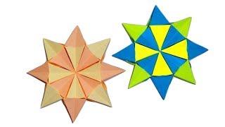 Объёмная звезда из бумаги. Оригами из модулей