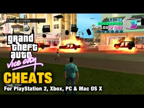 vice city - This video shows all the cheats available for Grand Theft Auto Vice City Cheats do not prevent obtaining 100% of game statistics. It is however not advised t...