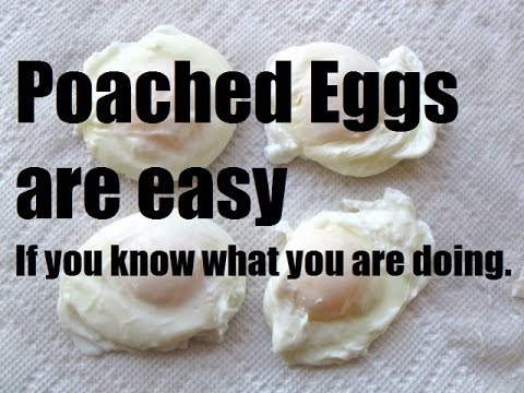 How To Poach Eggs - Easy Method For Home - French Culinary Technique