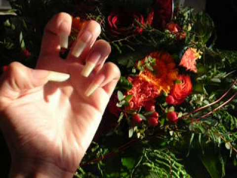 Long natural fingernails of mamita (video 13)