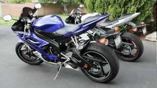 8. Yamaha R6 Walk Around Video - Two YAMAHA YZF-R6 White and Blue