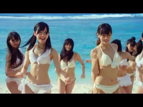 AKB48 沙灘集體比基尼熱舞,好養眼!