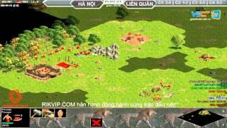 4vs4 Hà Nội, vs Liên Quân, 29/8/2015, - C2T4, game đế chế, clip aoe, chim sẻ đi nắng, aoe 2015