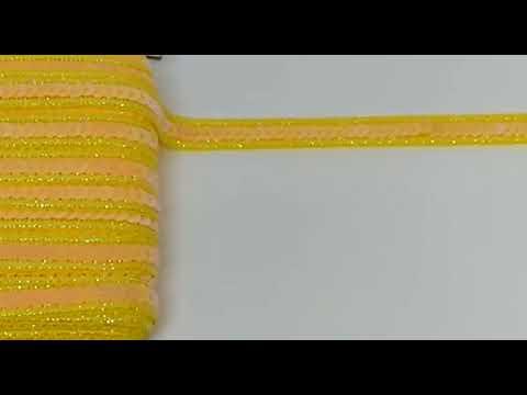Passamanaria Galão Amarelo Paetê 15mm 5M