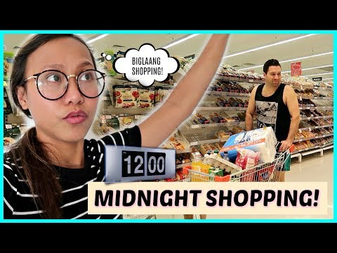 BIGLAANG MIDNIGHT GROCERY SHOPPING! GUSTONG GUSTO EH! ❤️ | rhazevlogs