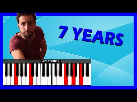 seven years old - lukas graham: video tutorial per piano