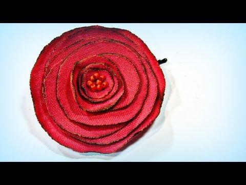 Tutorial. Rosas de tela. Fabric roses.