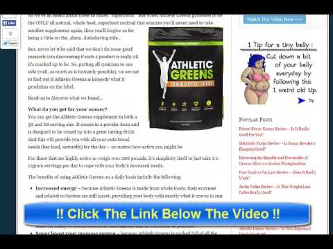 Athletic Greens Review - Is the Superfood Green Drink Good?