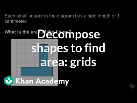 Decomposing Shapes To Find Area Grids Video Khan Academy