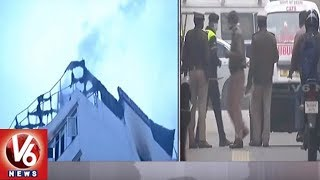 Fire Accident In Delhi | Fire Break Out From Hotel Arpit Palace | 9 Lost Life | V6 News