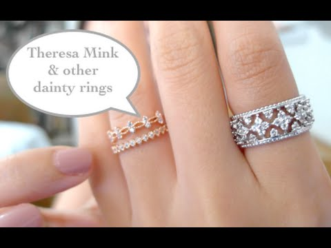 Jewelry Haul: Theresa Mink necklace + dainty rings