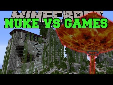NUKE MOD VS SURVIVAL GAMES - Minecraft Mods Vs Maps - (Bombers and Nukes)