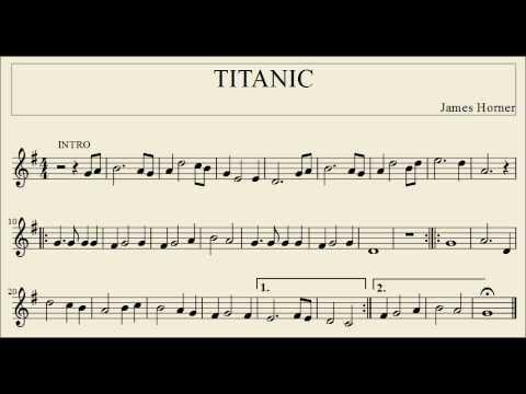 Titanic partitura tube aeiou for Semplice creatore di piano gratuito