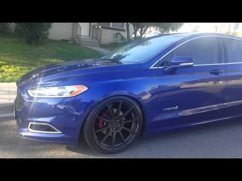 2013 Ford Fusion Hybrid of. 20 inch wheels