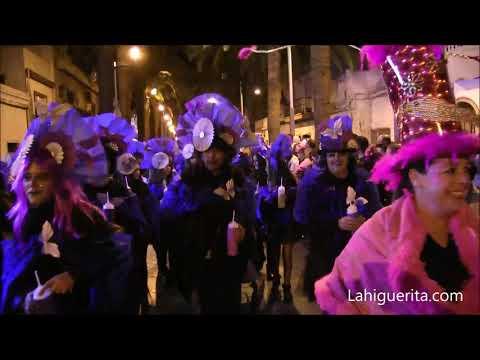 Desfile de viudas y quema de la Sardina en el Carnaval de Isla Cristina 2020