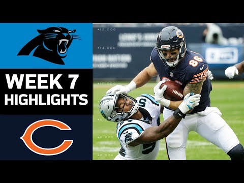 Panthers vs. Bears | NFL Week 7 Game Highlights (видео)